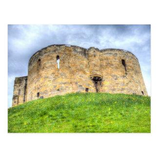York Castle And Daffodils Postcard