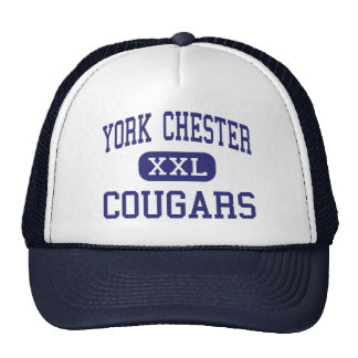 York Chester Cougars Middle Gastonia Hats