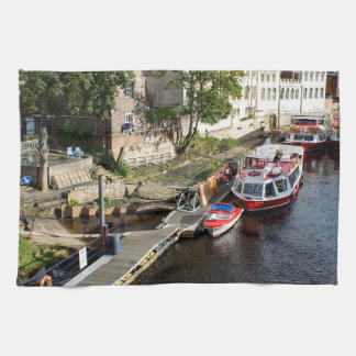 York City Guildhall and red boats Towel