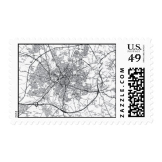 York City Old Map Postage Stamp