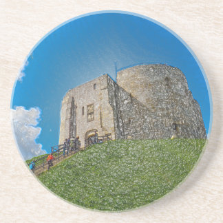 York, Cliffords tower in plastic Coaster