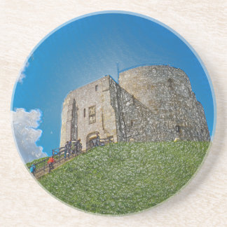 York, Cliffords tower in plastic Coasters