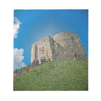 York, Cliffords tower in plastic Note Pad