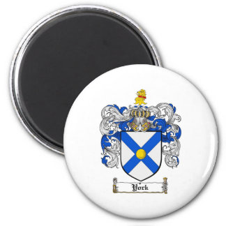 York Coat of Arms / York Family Crest 2 Inch Round Magnet