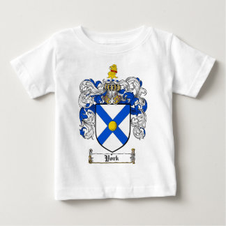 York Coat of Arms / York Family Crest Baby T-Shirt