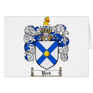 York Coat of Arms / York Family Crest Card