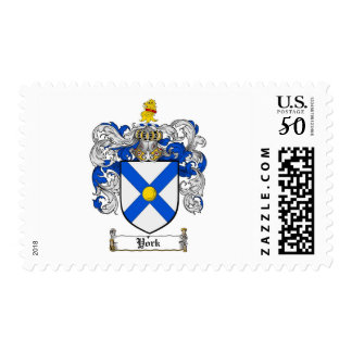 York Coat of Arms / York Family Crest Postage