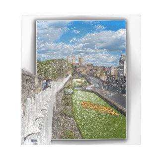 York de la pared de la ciudad libretas para notas