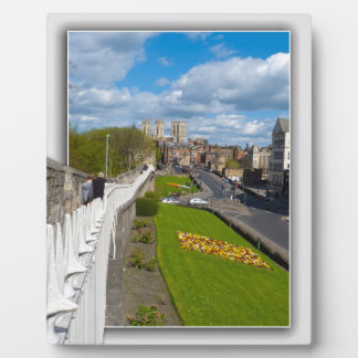 York empareda la iglesia de monasterio placa de madera