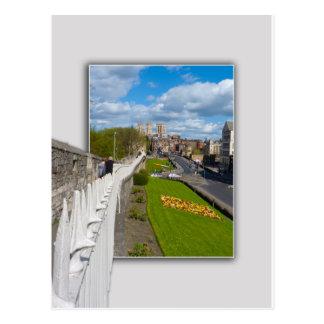 York empareda la iglesia de monasterio tarjetas postales