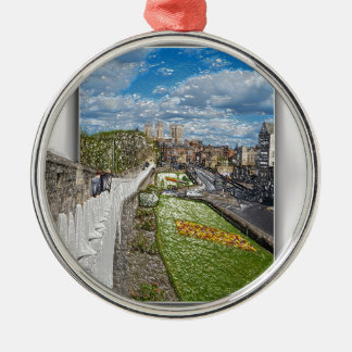 York from the city wall metal ornament