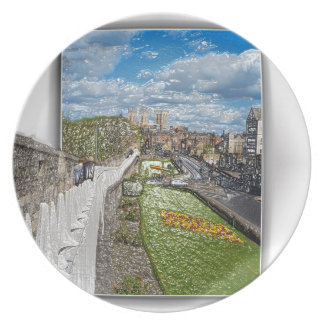 York from the city wall plate