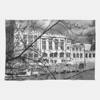 York Guildhall on the river Ouse Kitchen Towel