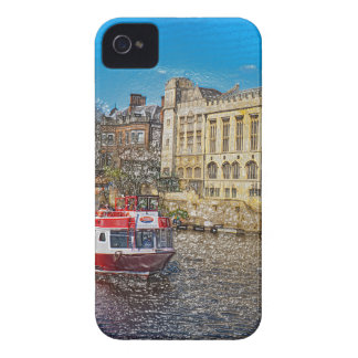 York Guildhall with river boat iPhone 4 Case-Mate Cases