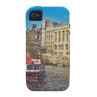 York Guildhall with river boat Vibe iPhone 4 Covers