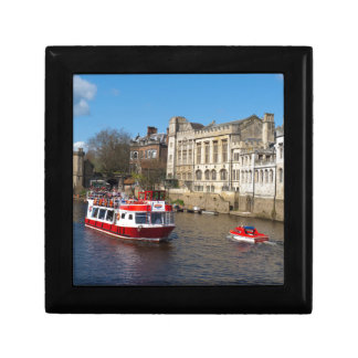 York Guildhall with river boat Gift Box