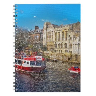 York Guildhall with river boat Spiral Note Book