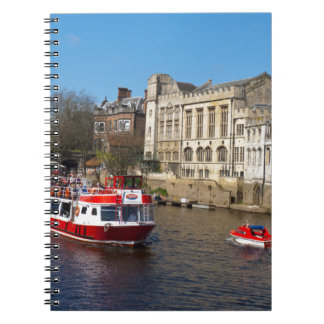 York Guildhall with river boat Note Book