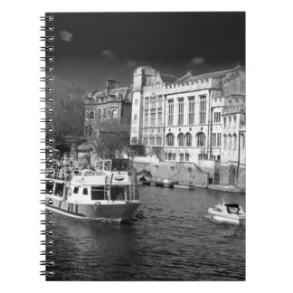 York Guildhall with river boat Spiral Notebook