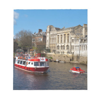 York Guildhall with river boat Memo Note Pad