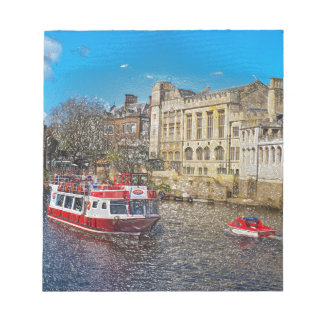 York Guildhall with river boat Memo Pads