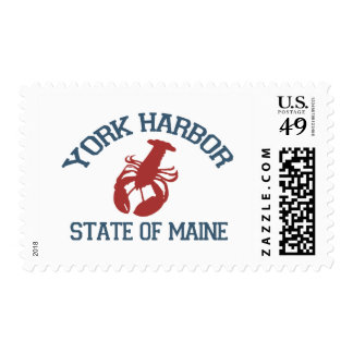 York Harbor - Maine. Postage Stamp