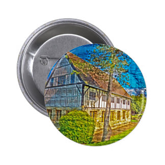 York Hospitium with added textures 6 Cm Round Badge