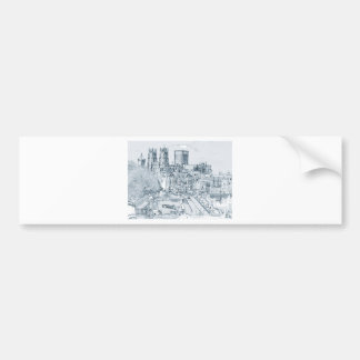 York, in pen and ink bumper sticker
