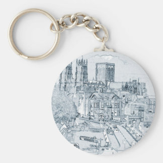 York, in pen and ink key chains