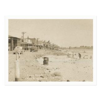 York, Maine, Long Beach, Vintage Postcard