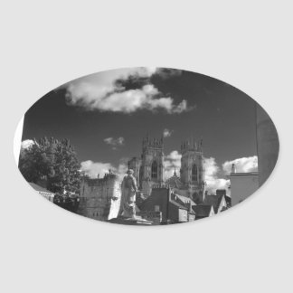 York Minster and Bootham bar from the Gallery Oval Sticker