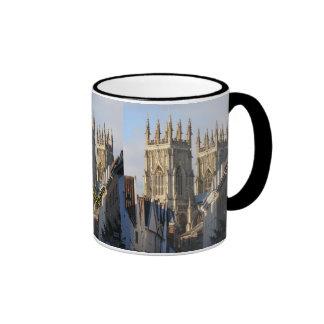 York Minster England Ringer Coffee Mug