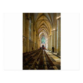 York Minster from inside. Postcard