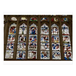 York Minster Great East Window. Postcard
