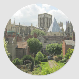 York Minster in the Morning Classic Round Sticker