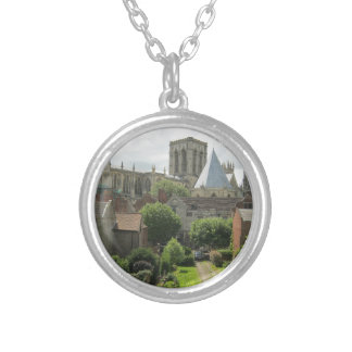 York Minster in the Morning Round Pendant Necklace
