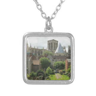 York Minster in the Morning Square Pendant Necklace