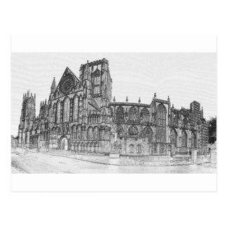 York Minster in the wide Postcard