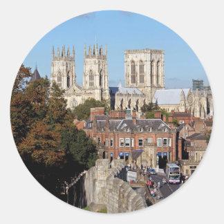 York Minster Round Stickers