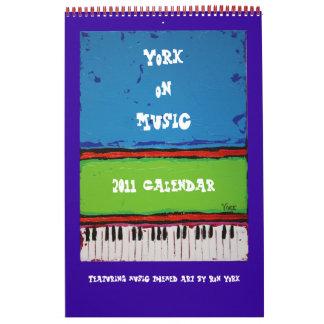 York on Music, 2011 calendar