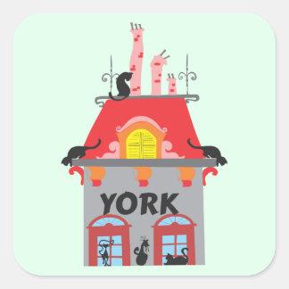 York Pegatina Cuadrada