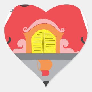 York Pegatina En Forma De Corazón