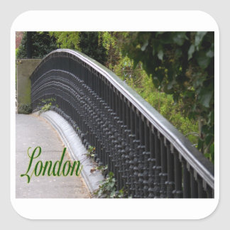 York Puente-Londres-Inglaterra Pegatina Cuadrada