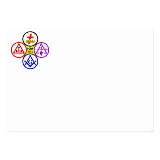 York Rite Bodies Logo Business Card