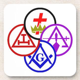 York Rite Bodies Pinwheel Logo Coaster