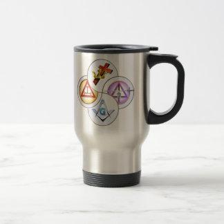 York Rite Digital Pinwheel Travel Mug