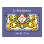 York Rite Lions Post Card