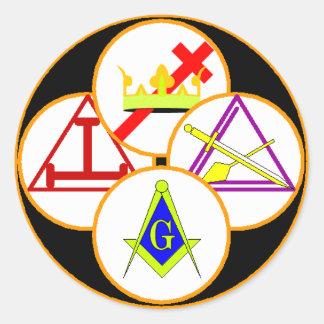York Rite Mason Classic Round Sticker