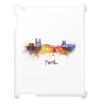 York skyline in watercolor case for the iPad