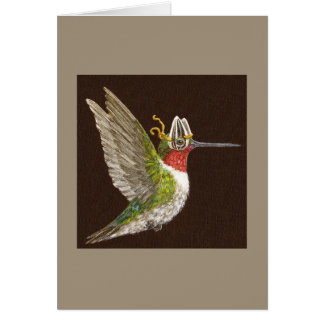 York the hummingbird card